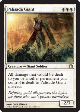 Magic: The Gathering - Palisade Giant (15) - Return To Ravnica front-1037821