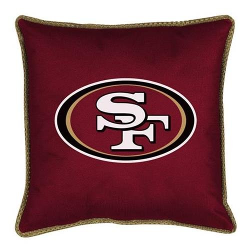 "San Francisco 49ers 17""x17"" Sideline Decorative Pillow at Amazon.com"