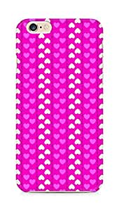 Amez designer printed 3d premium high quality back case cover for Apple iPhone 6s (Romantic Pink n White Color Hearts)