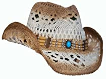J-Hat Western Cowboy Hat with Beaded Band