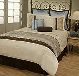 8Pcs Queen Monaco Jacquard Bedding Comforter Set