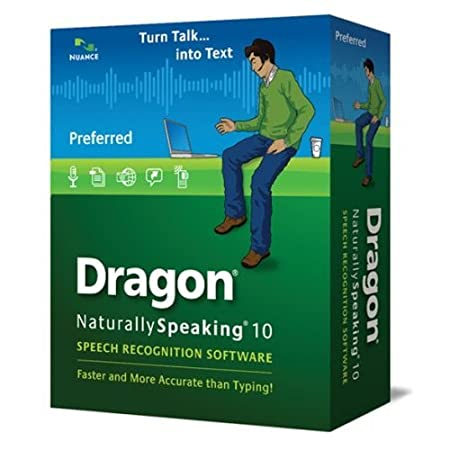 Nuance Dragon NaturallySpeaking v.10.0 Preferred with Noise-canceling Headset Microphone