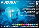 Aurora Ice Clock White Face