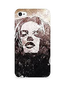 Amez designer printed 3d premium high quality back case cover for Apple iPhone 4s (Girl portrait face hair wind)