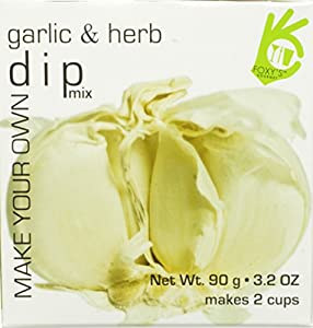 Foxy Gourmet Garlic/Herb Dip Mix, 3.17-Ounce Boxes (Pack of 4)