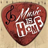 Music Is Home by Grey, Jace - Fine Art Print on PAPER : 24.75 x 24.75 Inches