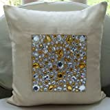 Jewel Thief - Decorative Pillow Covers - Suede Pillow Cover with Crystals