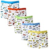 DOURA Underwear Boys Cotton Comfortable Short Boxer Briefs For Toddler 5-Pack (M Toddler 2-3 Year Old)