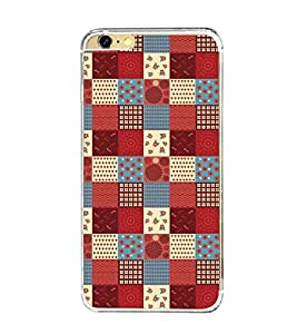 Printvisa Multicoloured Cheq Patterns Back Case Cover for Apple iPhone 6 Plus::Apple iPhone 6S Plus