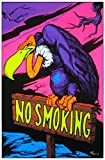 No Smoking Vulture Blacklight Poster Print - 24x36 Blacklight Poster Print, 23x35