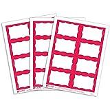 C-Line Pressure Sensitive Inkjet/Laser Printer Name Badges, Red Border, 3.38 x 2.33 Inches, 200 Labels per Box (92364)