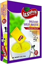 LeSohva Packet Instant Soup Broth Chicken amp Vegetable Flavor MSG  Gluten Free 20 Packets  Servings