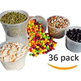 Best Deli Food Storage Containers With Lids. 16 Ounce Restaurant Take Out Cups. 36 Count Package. Microwave, Dishwasher and Freezer Safe. BPA Free.