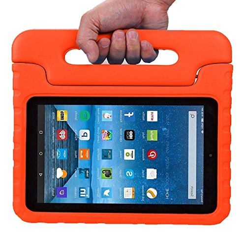 Fire 7 2015 Case - ANTS TECH Light Weight kids ShockProof Case Protective Cover Handle Stand for Amazon Fire 7 inch Display Tablet (5th Generation, 2015 Release Only)(Orange) (Chicago Bears Tablet Case compare prices)