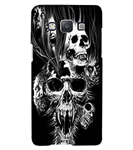 ColourCraft Skulls Design Back Case Cover for SAMSUNG GALAXY A8