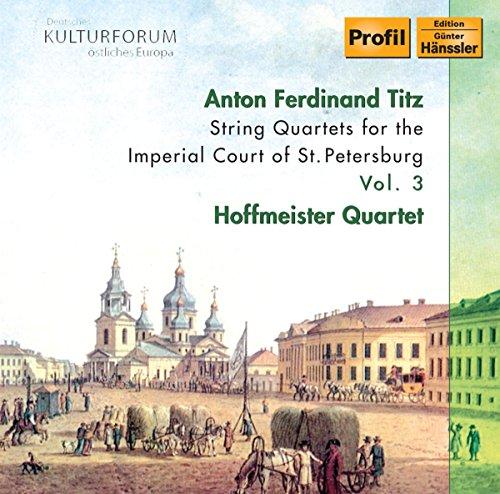 CD : Hoffmeister Quartett - String Quartets 3 (CD)