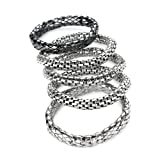 5 Piece Chainmail Fashion Bracelet Set Silver