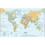 Brewster Wall Pops WPE99074 Peel & Stick World Dry-Erase Map with Marker