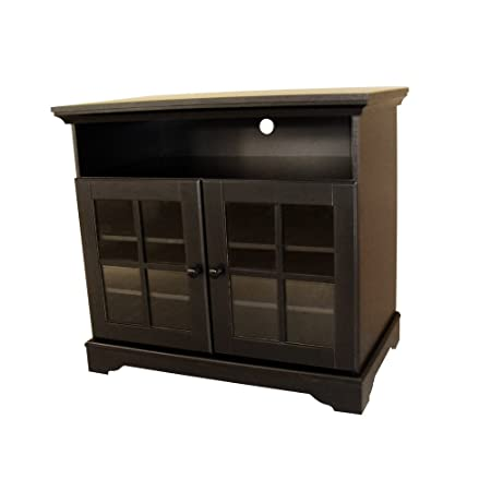 Home Source Industries TV10900 Traditional TV Cabinet with Storage, Black