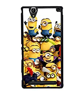 Popular Cartoon Character 2D Hard Polycarbonate Designer Back Case Cover for Sony Xperia T2 Ultra :: Sony Xperia T2 Ultra Dual SIM D5322 :: Sony Xperia T2 Ultra XM50h