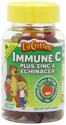 L'il Critters Gummy immunitaire C Plus de zinc et
