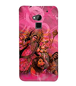 Durga Maa 3D Hard Polycarbonate Designer Back Case Cover for HTC One Max