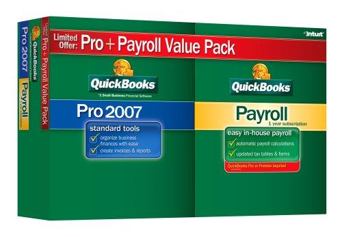 QuickBooks Pro 2007 with Standard Payroll 2007 Value Bundle [OLDER VERSION]