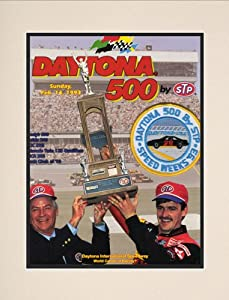 NASCAR Matted 10.5 x 14 Daytona 500 Program Print Race Year: 35th Annual - 1993 by Mounted Memories