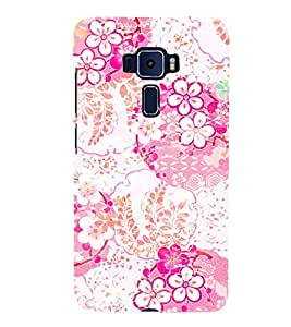 Floral Painting 3D Hard Polycarbonate Designer Back Case Cover for Asus Zenfone 3 Deluxe ZS570KL