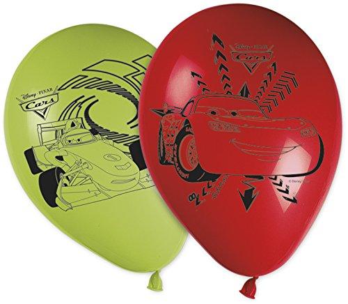 ballon-latex-cars-x8-disney-pixar-taille-unique