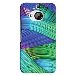 ColourCrust HTC One M9 Plus Mobile Phone Back Cover With Abstract Art - Durable Matte Finish Hard Plastic Slim Case