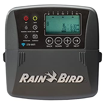 Rain Bird ST8I-WIFI Smart Indoor WiFi Sprinkler/Irrigation System Timer/Controller, WaterSense Certified, 8-Zone/Station