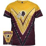 Washington Redskins - Logo V-Dye Tie Dye T-Shirt