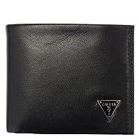 ゲス 財布 GUESS 二つ折り財布 ブラック メタルロゴ 0096-7409/01 【並行輸入品】
