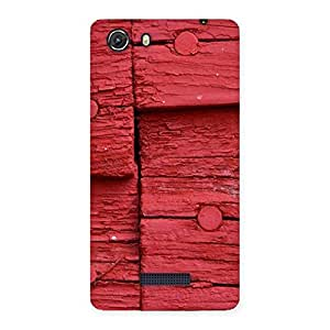 Ajay Enterprises Red Wood Back Case Cover for Micromax Unite 3