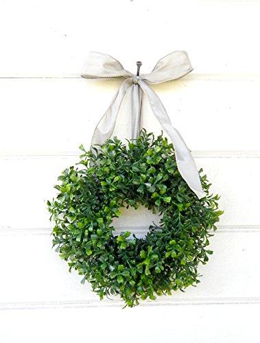 Mini Window Wreath, MINI Boxwood Wreath-Christmas Wreath, Holiday Wreath, Country Cottage Wreath, Farmhouse Decor, SCENTED Wreath, Small Wreath, Holiday Home Decor