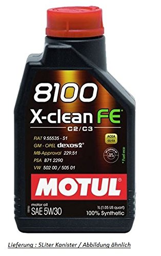 motul-x-clean-fe-5w30-fully-synthetic-engine-oil-5-litres