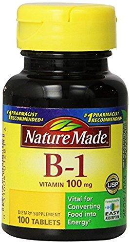 Nature Made Vitamin B1, 100mg, 100 Tablet