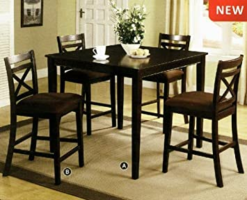 Weston 5-Piece Espresso Finish Dining Set