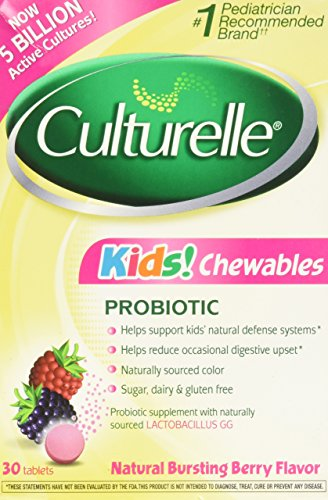Culturelle Kids Chewables, Natural Bursting Berry Flavor, 30 ct