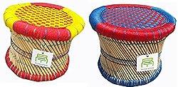 Ecowoodies Cercis Handicraft Indoor/Outdoor Bar Stool Set(2 Pcs)