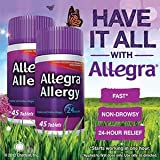 Allegra® 180mg 24 Hour Allergy Relief 2 Bottles, 45 Count Each