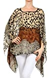 Kiwi Co. Womens Spot on Leopard Chiffon Print Scarf Caftan
