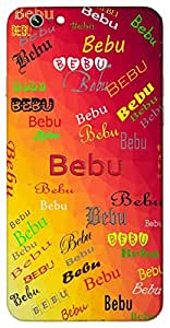 Bebu (Little Cute Girl Baby) Name & Sign Printed All over customize & Personalized!! Protective back cover for your Smart Phone : Samsung Galaxy E5
