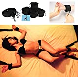 High Quality Bed Restraints for Sex Play: Adjustable Straps. Furry Cuffs handcuffs. Bondage: Ankles Wrists feet legs. BDSM Bondageromance kit