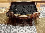 Personalized Large Wine Barrel Dog Bed