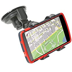GreatShield Clip-Grip Handlebar Bike Mount Holder for iPhones, samsung galaxy, htc smartphones, GPS Devices and More