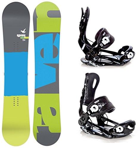 Snowboard Set: Snowboard Raven Solid Carbon + Bindung Raven Fastec FT270 Black L