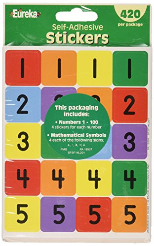 Eureka Numbers 1 To 100 Theme Stickers