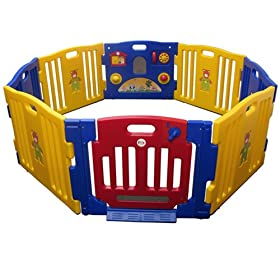 Baby Kids Playpen 8 Panel Play Center Safety Yard Pen (Jbw-8 Model)